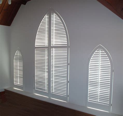 interior plantation shutters - Arch Window Shutters Interior