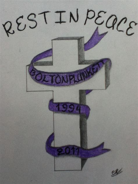 rest in peace cross tattoos cross rest in peace by cable radiation on deviantart