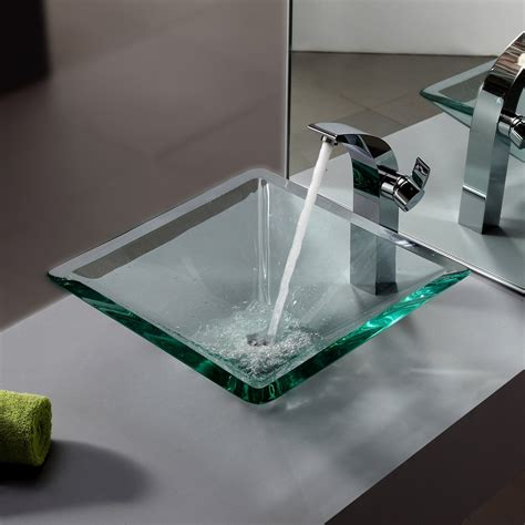glass vessel bathroom sink glass vessel sinks with faucets