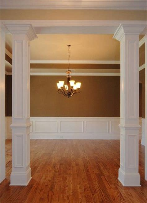 dining room columns to cover that 2 x 4 maybe make a set done in shades of