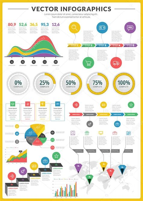 design elements vector pack big pack of data visualization vector infographics and