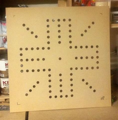 aggravation board template router template for a 24 quot x24 quot wahoo board 1 4 quot mdf wood