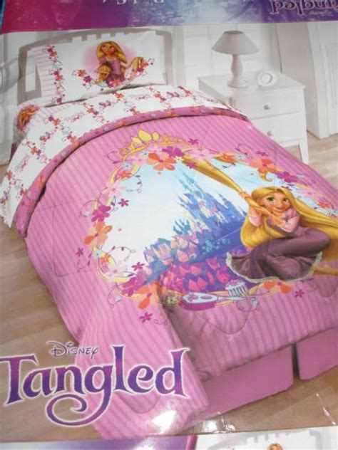 tangled bedding 4p tangled rapunzel twin comforter sheets girls pink princess bedding set disney ebay