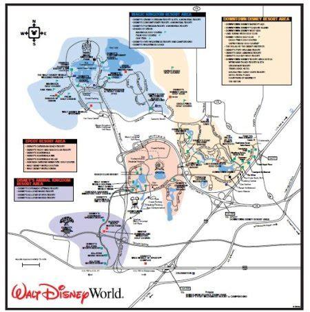 disney world maps maps of walt disney world