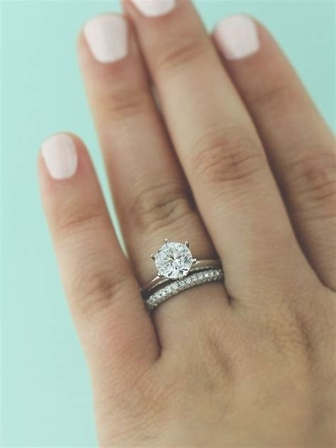 Wedding Bands With Solitaire by Solitaire Ring Wedding Band Wedding Ideas