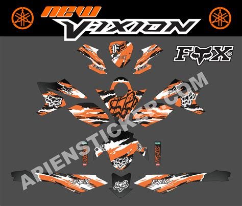 Stripping Sticker Yamaha Jupiter Orange striping motor vixion nvl fox carbone apien sticker