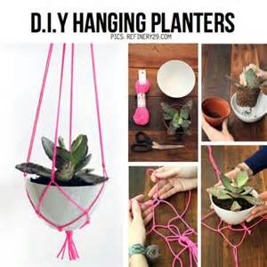 hanging planters diy diy hanging planters for when i m crafty pinterest