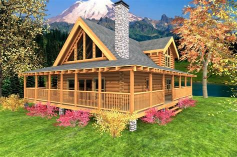 wrap around porch cabin design ideas 1 story house plans distinctive log cabin with wrap around porch porch and