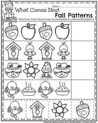 fall pattern worksheets for kindergarten november preschool worksheets fall preschool fall