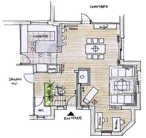 amenagement interieur am 233 nagement int 233 rieur et d 233 coration maison pornichet plan