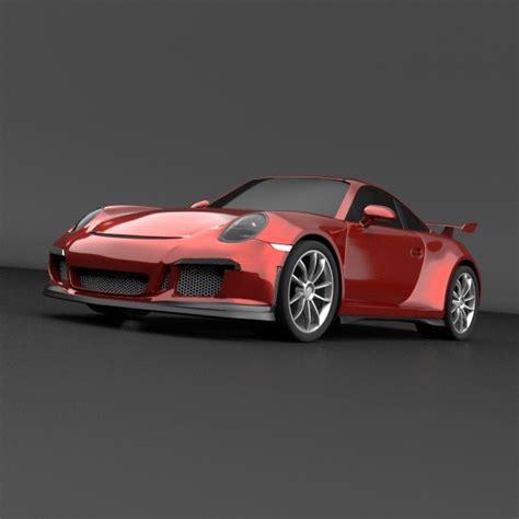 porsche sports car models porsche 911 gt 3 sports car restyled 3d model