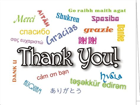 Thank You Letter To Language Thank You Many Ways Card