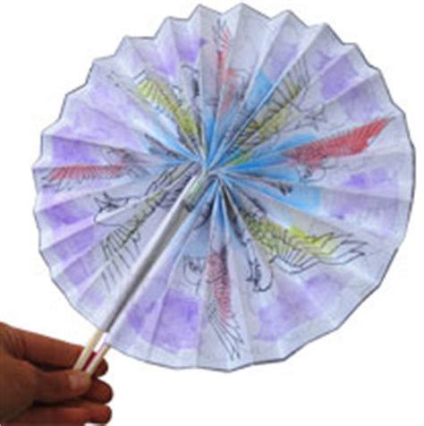 How To Make A Fan Out Of Paper - krokotak japanese paper fans