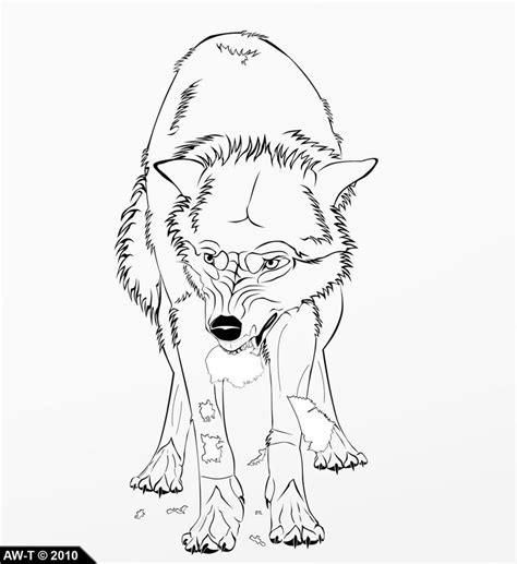angry wolf coloring page angry wolf lineart by absolutewolf on deviantart