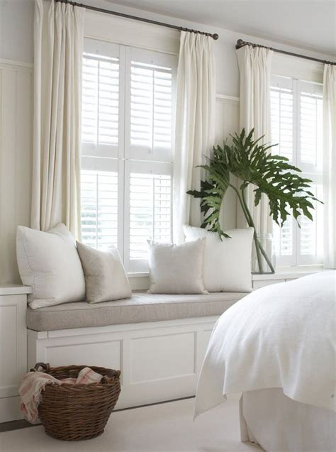 drapes with plantation shutters 1000 ideas about window seats bedroom on pinterest