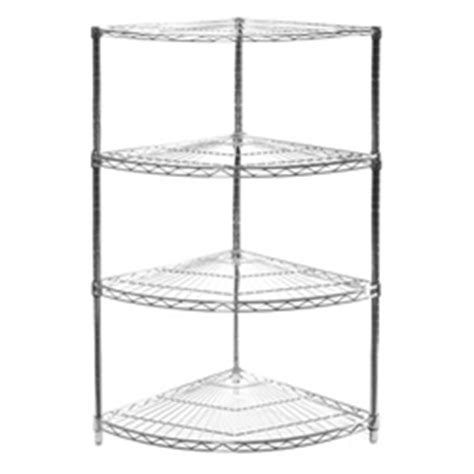 wire shelving corner unit w 4 shelves 18 quot radius