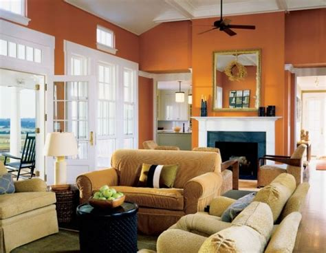 burnt orange living room walls the underused interior design color how to use orange indoors