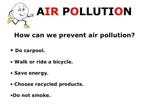 Ways To Avoid Air Quality Air Pollution Presentation