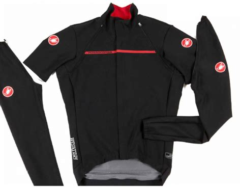 convertible cycling jacket mens castelli perfetto convertible jacket red men 16506 023
