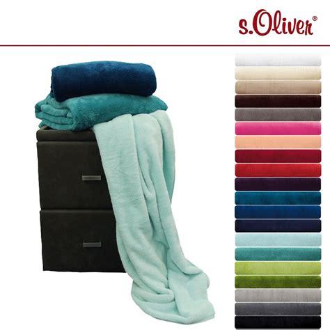 s oliver decke s oliver wellsoft decke in vielen farben flauschig
