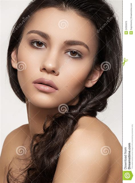 beautiful model beautiful model with hairstyle and fashion make up royalty