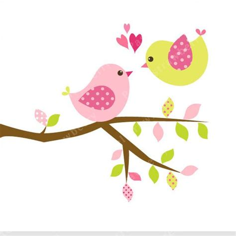 sweet bird and tree clipart set with cute little owl patronen fr 252 hling and gr 252 ne b 228 ume on pinterest