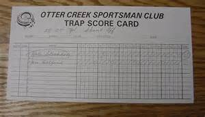 trap shooting scorecards pictures inspirational pictures