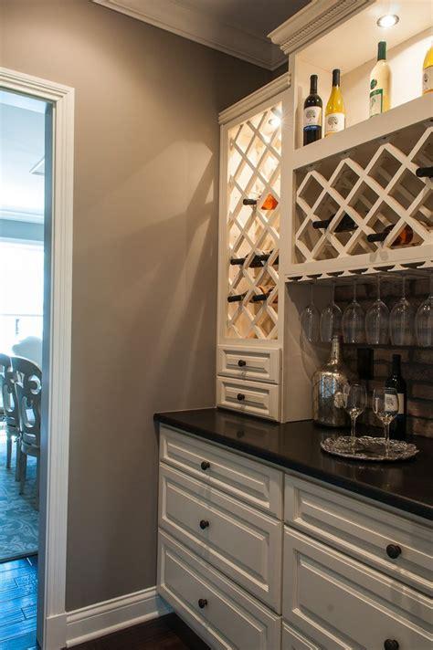 built  wine bar cabinets  countertops match