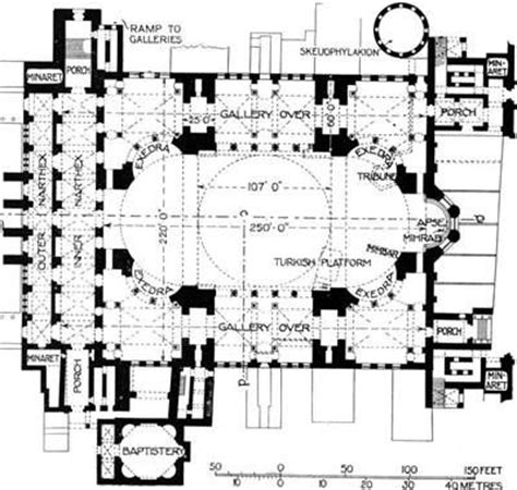 Floor Plan Of Hagia Sophia | description constantinople hagia sophia floor plan