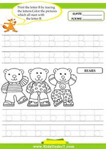alphabet tracing worksheets b