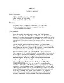 Veterinary Technician Resume Sle by Cover Letter For Veterinarian Resume Template Veterinary