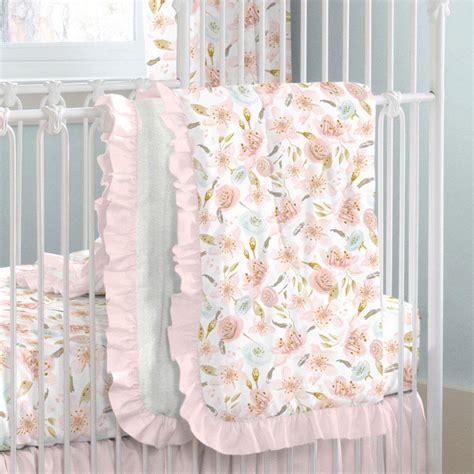 floral baby bedding pink hawaiian floral crib bedding carousel designs