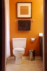 painted bathrooms ideas orange home decor images