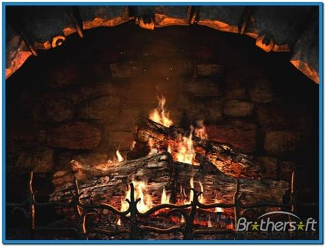 fireplace 3d screensaver and animated wallpaper
