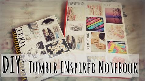 Tumblr Rooms Diy Book Covers | back2school diy tumblr inspired notebook youtube