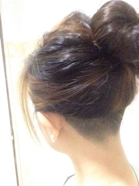nape shave styles bun 1000 ideas about shaved nape on pinterest medium fade