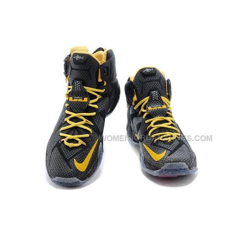 lebron shoes for cheap cheap nike lebron 12 black yellow pe basketball shoes