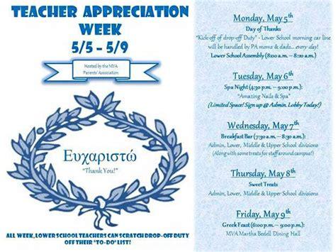 Gift Letter Mva flyer listing mva s pa appreciation week schedule of events appreciation