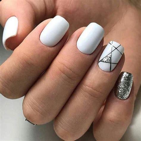 romantic  stylish white nail designs  ideas