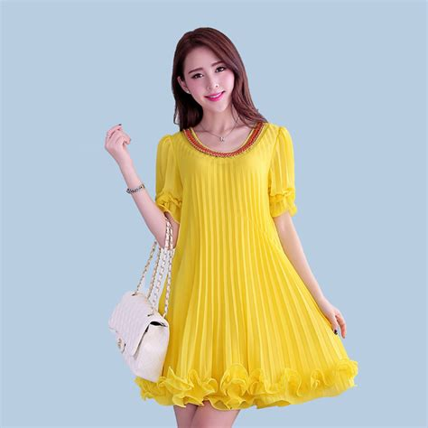 5 In 1 Yelow Size Xl Set Celana Dalam Mc 5xl 4xl plus size fashion summer dress casual chiffon sundress yellow