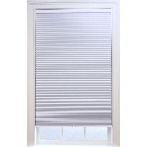 curtains blinds shades shop allen roth white blackout cordless polyester
