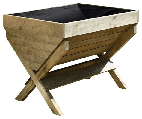 B And Q Planters by Wooden Kitchen Garden Trough Outdoor Pots