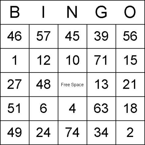 numbered bingo card templates 9 best images of printable bingo printable bingo