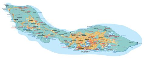 printable curacao road map large detailed roads map of curacao with airport curacao