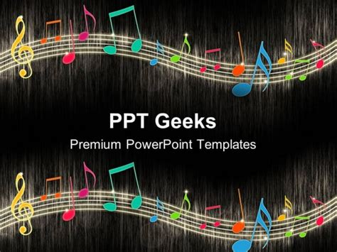 template ppt music free music notes background entertainment powerpoint templates