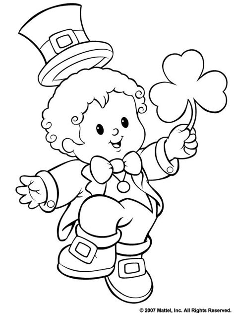 st patrick s day color on pages coloring pages for kids