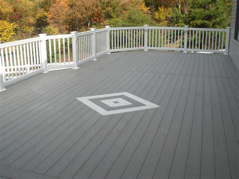 gray deck white and gray wood porch gray white azek decking