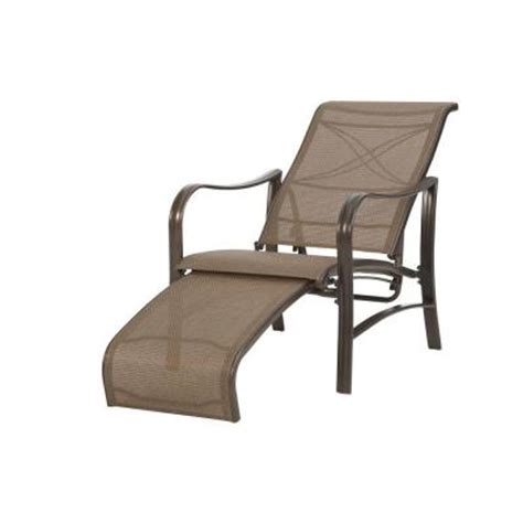 Reclining Patio Chairs With Ottoman Martha Stewart Living Grand Bank Patio Reclining Lounge Chair D4067 Lo The Home Depot