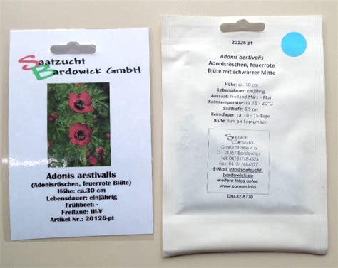 Gartenartikel Sale by Adonisr 246 Schen Adonis Aestivalis Seedshop24 Saatgut