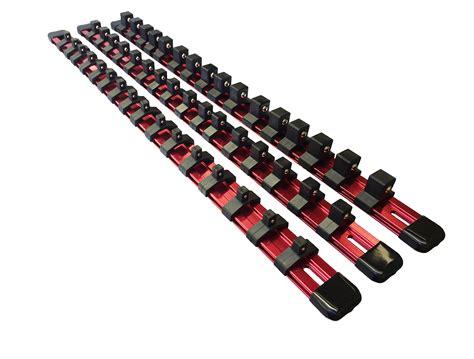 socket and holder olsa tools 3 pcs kit aluminum socket organizer 1 4 inch 3 8 inch 1 2 inch ebay
